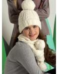 Розовый комплект шапочка и шарфик